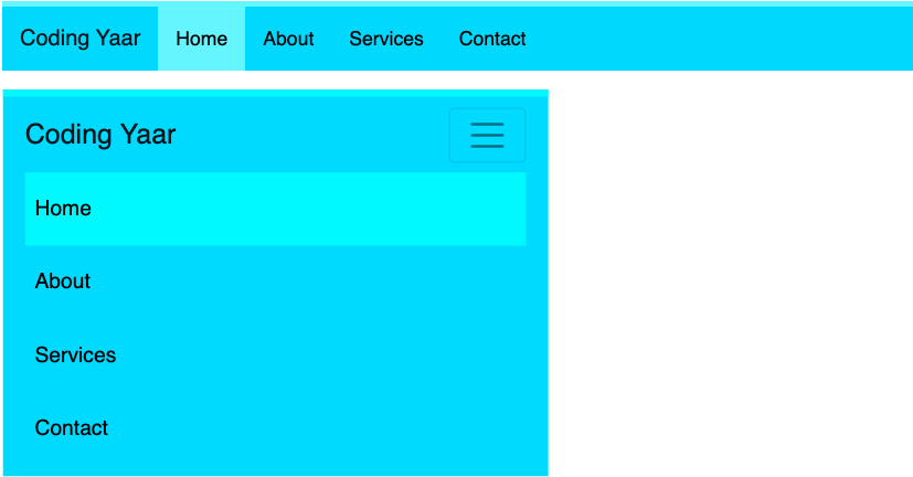 Bootstrap Navbar border line and active background-color