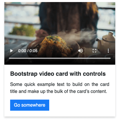 Bootstrap video card examples
